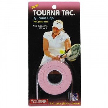 owijki tenisowe TOURNA TAC GRIP PINK GRIPS X3 XL/0,65