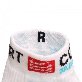 skarpety kompresyjne COMPRESSPORT RUN PRO RACING SOCKS 3D.DOT HIGH-CUT (1 para) / RSH WHITE-BLUE 11319-204