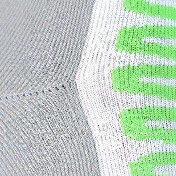 skarpety sportowe REEBOK ZIG SOCK white/flat grey/sushi green (1 para) / O42508
