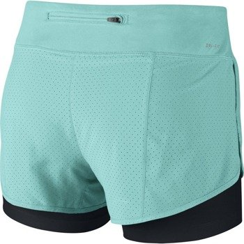 spodenki do biegania damskie NIKE PERFORATED RIVAL 2IN1 SHORT / 645468-467