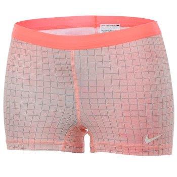 spodenki tenisowe damskie NIKE SLAM PRINTED SHORT / 646200-676