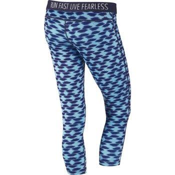 spodnie do biegania damskie 3/4 NIKE PRINTED RELAY CROP / 645610-455