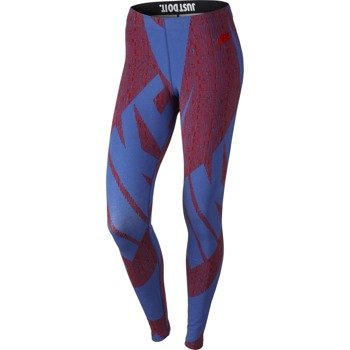 spodnie sportowe damskie NIKE LEG-A-SEE ALLOVER PRINTED / 726091-657