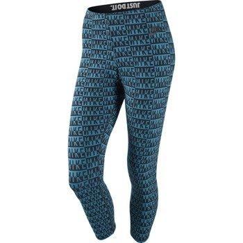 spodnie sportowe damskie NIKE LEG-A-SEE-CROPPED ALLOVER PRINT / 643057-413