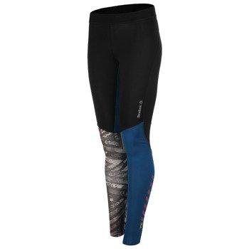 spodnie sportowe damskie REEBOK ONE SERIES FE26 RUSH COMPRESSION TIGHT/ AA1516